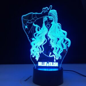 Billie Eilish Famous Singer 3D LED Lamp Illusion