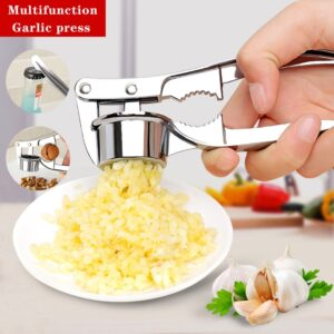 Kitchen Home Cooking Tools Stainless Steel Garlic Press Crusher