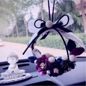 MR TEA Crystal Eternal Flower Car Hanging Ornament