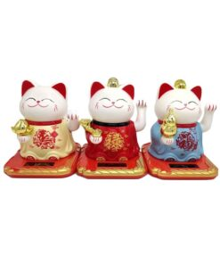 Solar Powered Fortune Cat Cute Welcoming Fortune Symbol