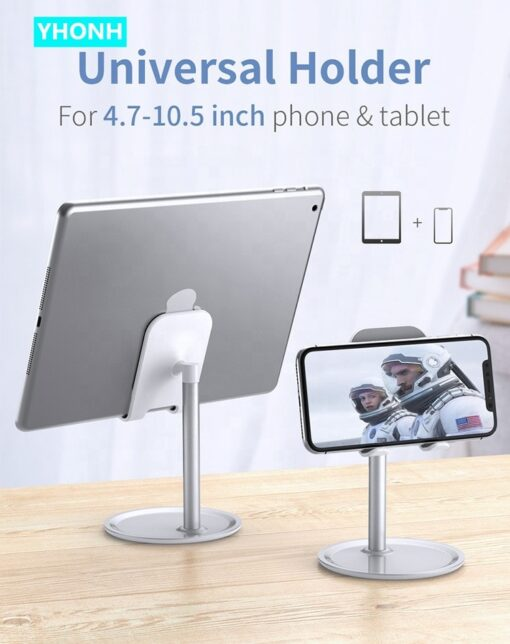 YHONH Mobile Phone Holder Stand Cell Phone Tablet Universal Desk Holder For iphone X 8 Samsung