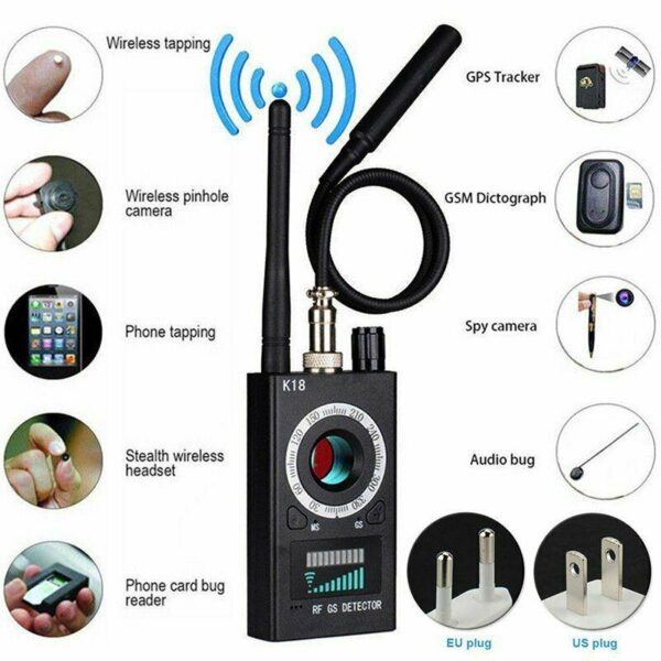 Multifunctional Anti Detector Camera K18   GSM, Audio Bug Detector, GPS Signal Lens, RF Detector, Wireless Products, 1MHz-6.5GHz r60