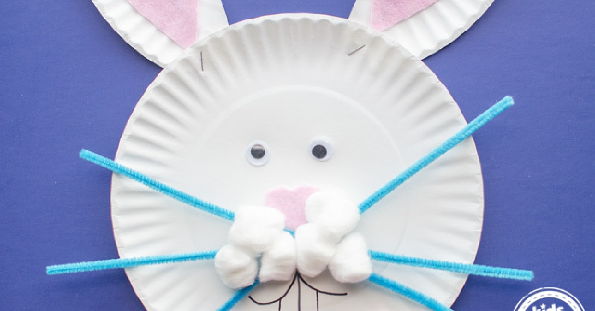 Super Cute Paper Plate Easter Bunny Craft