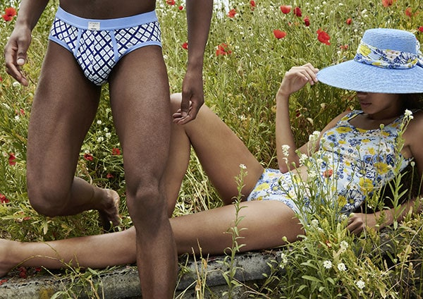 Calida Collaboration with Viktor & Rolf Heritage X Sustainability Collection as featured on Lingerie Briefs