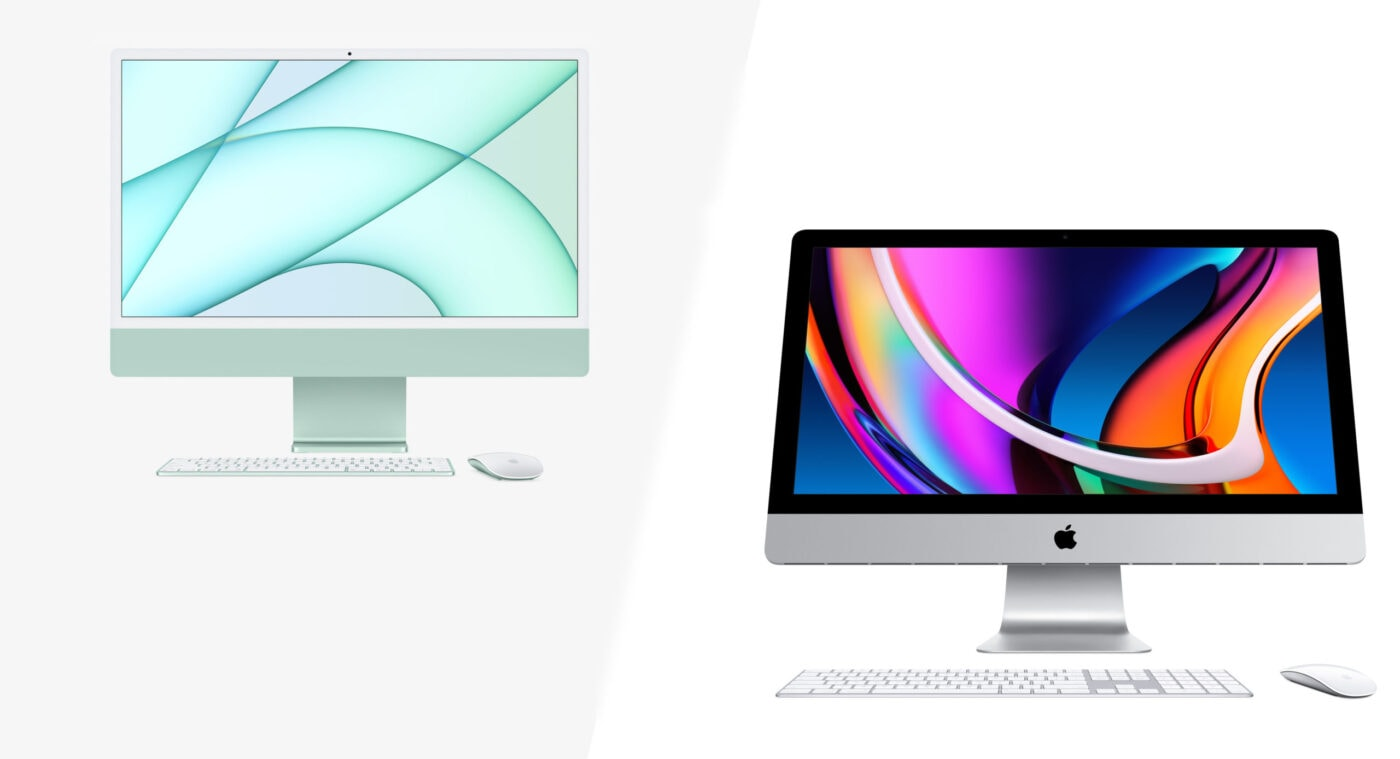 How does the 24-inch iMac M1 stack up against older iMacs?