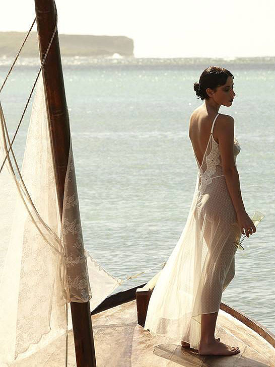 Shell Belle Couture Bridal Collection Seduce Me nightgown as featured on Lingerie Briefs