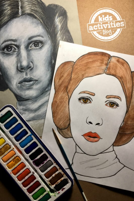 Princess Leia Coloring Page for Kids & Adults [Video Tutorial Included]